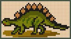 σχέδια με δεινόσαυρους για κέντημα / dinosaur cross stitch patterns