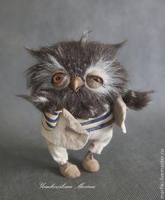 Совенок Хэнк Муди - коричневый,сова,филин,совенок,ямковская,искусственный мех