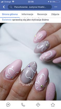 Summer Nail Designs - My Cool Nail Designs Rose Nails, Oval Nails, Pink Nails, My Nails, Nagel Stamping, Manicure, Nail Mania, Watermelon Nails, Flower Nail Art