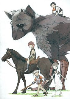 The Last Guardian, Shadow of the Colossus, and Ico