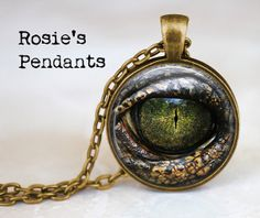 Dragon Eye  Handcrafted Pendant Necklace or Key by RosiesPendants, $14.25