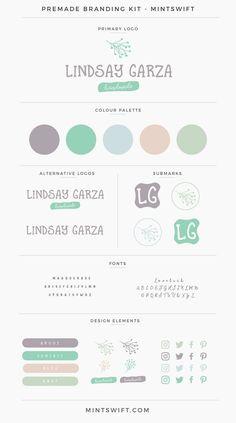 $99 | Lindsay Garza Premade Branding Kit | MintSwift: