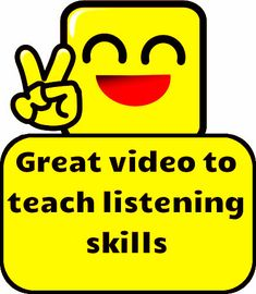 Great video to teach listening skills!