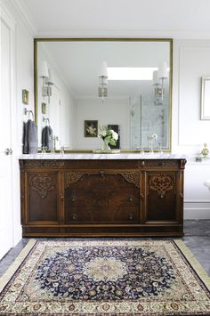 Could your bathroom use a little TLC? You'll love these tips for Organizing, Cleaning, and Decorating your Bathrooms! Estilo Colonial, Spanish Bathroom, Spanish Style Bathrooms, Spanish Style Homes, Up House, Bathroom Renos, Beautiful Bathrooms, Bathroom Interior Design, Bathroom Inspiration