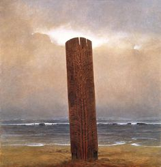 Zdzisław Beksiński - paintings I The Dark Tower, Magic Realism, Arte Horror, Horror Art, Art Database, Modern Artists, Fantasy Landscape, Fantastic Art, Dark Fantasy