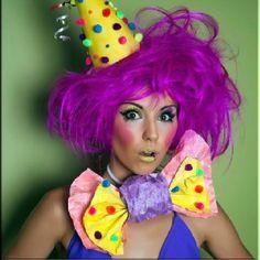 Sexy clown make up on Gogo by HA! Make Up & Hair Art