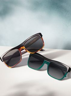 Burberry Brit sunglasses in tortoiseshell and British green - new for the festival season