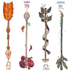 regram @_picolo Zodiac Arrows! (2/3) DESCRIPTION BELOW   The fletching on a Leo's arrow is made out of lion's mane. The arrows are used to protect the Leo's kingdom - it may be anything from home to a partner. Their jewels work as fuel for incendiary shots.  Virgo's perfectionism made them extremely picky about their enemies. Although their arrow seems delicate and calm on the outside it only takes one shot to kill.  Libras are the diplomat of the zodiac. Their arrow's tip resemble the pans…