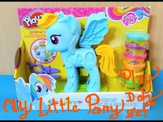 My Little Pony...(Rainbow dash) Play Doh Set..We Will Make Long Hair For...
