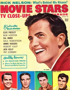 August 1958---mom was embarrssed to buy these movie mags, so she sent us to the drugstore…even an occasional Natl Inquirer, no less!!!!  we bought she was really funny!----gg