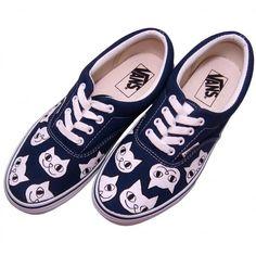 "NECO Paint Sneaker ""ERA - NAVY"" - ART SHOP KAGOYA"