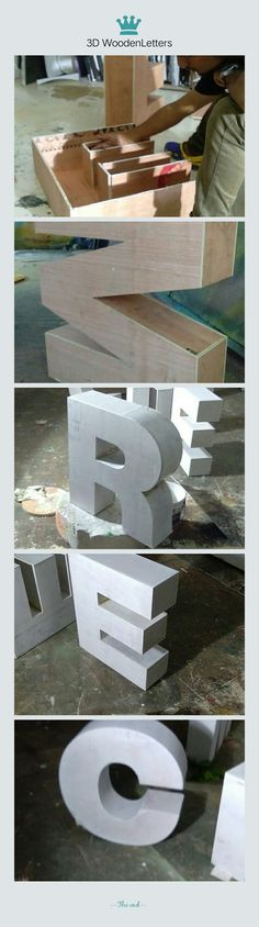 #Wood Work # 3D Letters in ply Wood # Event Title Work