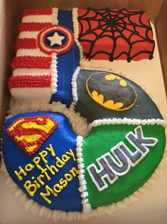 Cake: wow!! Sweet Arts Bakery Super Hero Cake