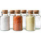 MamboCat 6er Set Gewürzgläser | Füllmenge 300 ml | wiederverwendbare Glasdose + Korkverschluss | hochwertiges rundes Glas | Aufbewahrung von Tee Kräutern Gewürzen