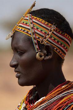 Africa | Rendille woman.  Kenya