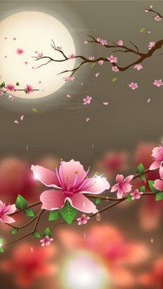New Wallpaper Celular Whatsapp Pink Ideas Beautiful Flowers Wallpapers, Beautiful Nature Wallpaper, Pretty Wallpapers, Love Wallpaper, Unique Wallpaper, Perfect Wallpaper, Wallpaper Ideas, Beautiful Moon, Mobile Wallpaper