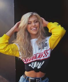 Shop from the best fashion sites and get inspiration from the latest loren gray. Casual Outfits, Summer Outfits, Cute Outfits, Loren Gray, Grey Outfit, Grey Fashion, Tumblr Girls, Outfit Goals, Divas