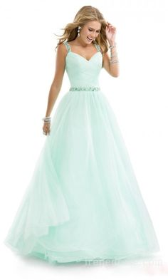Elegant Natural Princess Sleeveless Long Prom Dress In Stock irene35352