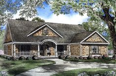 House Plan 62069 | Country Southern Plan with 2338 Sq. Ft., 4 Bedrooms, 2 Bathrooms, 2 Car Garage at family home plans