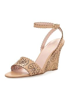 iago+laser-cut+wedge+sandal,+natural+by+kate+spade+new+york+at+Neiman+Marcus.