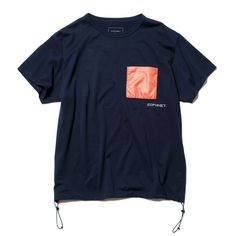 SOPH. | HEM CODE BIG POCKET TEE(M NAVY): Aesthetic Shirts, Chinese Clothing, Easy Wear, Tee Design, Apparel Design, Fashion Branding, Boys T Shirts, Hoody, Long Sleeve Tees
