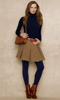 Wool & Alpaca Tweed Skirt...Like the color combo