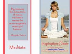 Poster - Meditation - Free When You Signup for my Ezine at   http://www.inspiration-oasis.com/free-inspirational-posters.html