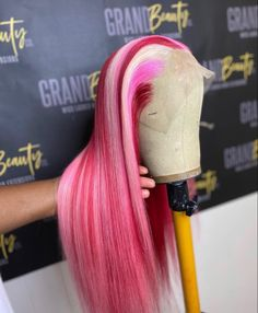 Lace Front Wigs, Lace Wigs, Colored Weave Hairstyles, Creative Hair Color, Brazilian Hair Bundles, Beautiful Hair Color, Dope Hairstyles, Human Hair Wigs, Pink Hair