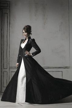 Черное свадебное длинное платье