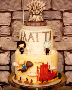Cake from a Game of Thrones Birthday Party on Kara's Party Ideas | KarasPartyIdeas.com (5)