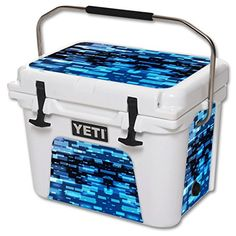 MightySkins Protective Vinyl Skin Decal for YETI Roadie 20 qt Cooler wrap cover sticker skins Space Blocks -- For more information, visit image link.