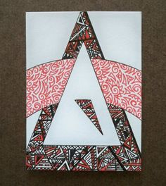 Triangle Arch Original ACEO by ellemardesigns on Etsy, $8.00