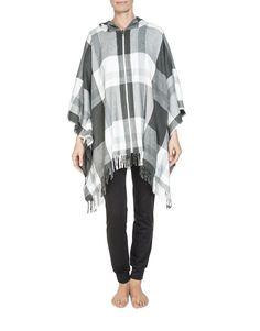 Check Poncho Wrap Winter Warmers, Mothers, Knitwear, Check, Tops, Women, Fashion, Moda, Tricot