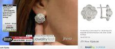 Pamela Mccoy Diamonds(Tm) 1.00ctw Round & Baguette Diamond Rhodium Over Silver Cluster Earrings ERV: $810.00 JTV Price: $399.99