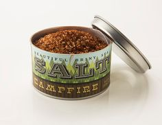 Beautiful Briny Sea: Campfire Salt: Hickory Smoked Sea Salt, Sumac, Chili, Cumin 6oz