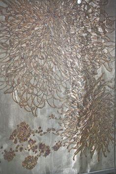 Mirang Wonne | EXHIBITS  torched metal mesh screens