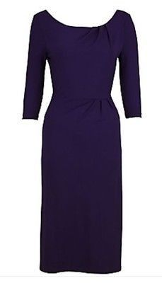 LK Bennett Viola purple dress size 14 wear 2 way - Carobethany  - 1