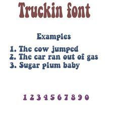 truckin vinyl font lettering decals custom made name 15 inch decal weather resistant jeeps cars