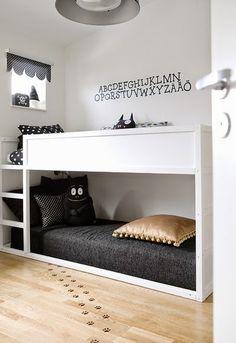 No Place Like HEIMA: Modern Black and White Kid's Bedroom