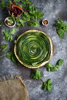 ... grain free zucchini, ricotta and herb tart ...