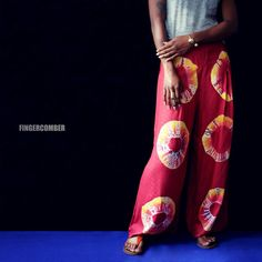 AFRI-TIE-DYE pants in HAWT new colors at FINGERCOMBER.COM. Made for chillaxin'! #fingercomber