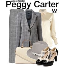 Inspired by Hayley Atwell as Peggy Carter on Agent Carter