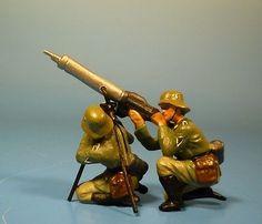 Orig. Lineol (Elastolin) Wehrmacht – Flugabwehrgruppe– 7cm Serie