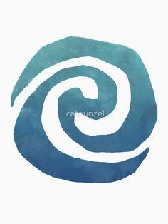 "Watercolor Moana Swirl "" T-Shirts & Hoodies by catpunzel | Redbubble"