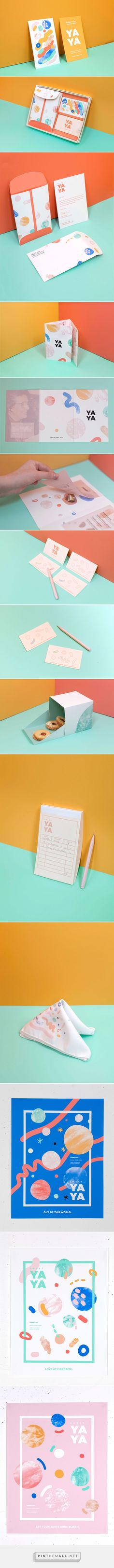 Sweet Yaya Bakery Branding by Sara Haas Fivestar Branding Agency – Design and Branding Agency & Curated Inspiration Gallery Corporate Design, Brand Identity Design, Graphic Design Branding, Stationery Design, Design Agency, Brochure Design, Typography Design, Packaging Design, Lettering