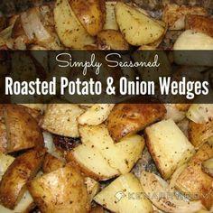 Roasted Potato and Onion Wedges: A Simply Seasoned Side Dish - Kenarry.com