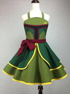 Star Wars Inspired Handmade Boba Fett Apron  Full by ActionPink