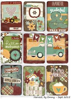 Harvest pocket letter by Emmy - Sept 2015 - Pretty Little Things - Simple Stories ( Pumpkin Spice ) Pocket Scrapbooking, Scrapbook Supplies, Scrapbook Paper, Pocket Pal, Pocket Cards, Atc Cards, Journal Cards, Bird Cards, Project Life Cards