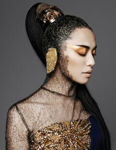 Photoshoot Round-up, Week Yao Chen is gold in gold; Makeup Inspiration, Character Inspiration, Makeup Ideas, Wedding Inspiration, Mockingjay Costume, Star Goddess, Foto Fashion, Bronze Makeup, Models Makeup