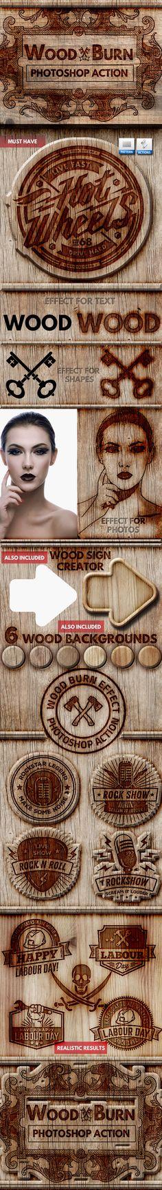 Wood Burn Effect Photoshop Action